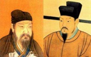 司馬光像(左)、王安石像(右)