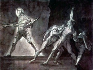 Hamlet and His Father's Ghost , Henry Fuseli